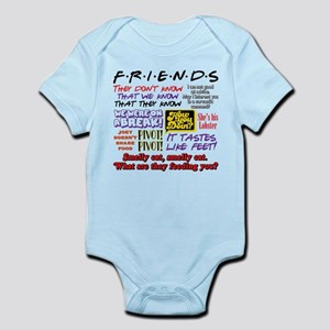 Friends Quotes Baby Light Bodysuit