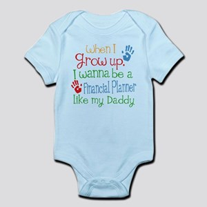 Financial Planner Like Daddy Baby Bodysuit