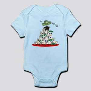 Funny Sheep Christmas Tree Infant Bodysuit