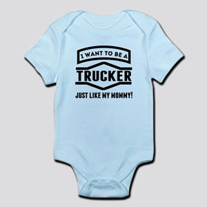 a49e6dff Designer Tv Mommy Trucker Truck Driver Baby Clothes & Accessories ...