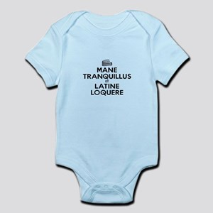 Keep Calm and Speak Latin Infant Bodysuit