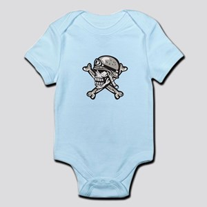 fbbd1d363 Side View Of Skull Baby Clothes & Accessories - CafePress