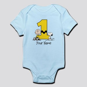 Peanuts Personalized 1st Birthday Body Suit