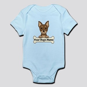Personalized Min Pin Infant Bodysuit