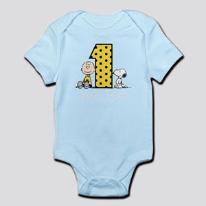 Charlie Brown Snoopy 1-Year-Old Birt Baby Bodysuit