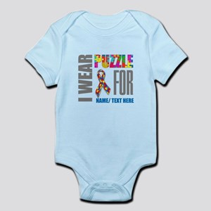 Autism Awareness Ribbon Customized Infant Bodysuit