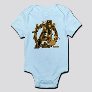 Avengers Infinity War Gold Baby Light Bodysuit