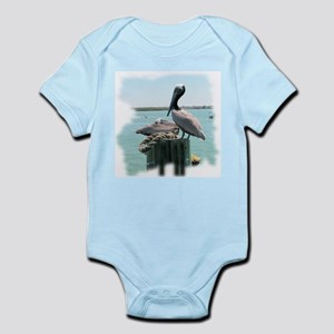 Brown pelican Infant Bodysuit