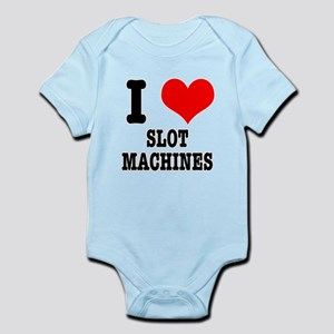 I Heart (Love) Slot Machines Infant Bodysuit
