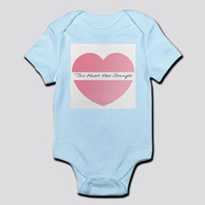heart strength Infant Bodysuit
