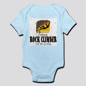 Future Rock Climber like Daddy Body Suit