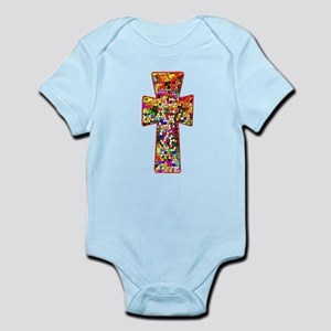 1564d1fd6 Pretty Stained Glass Look Cross Infant Bodysuit