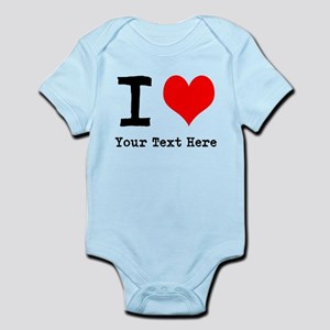 I Heart (personalized) Infant Bodysuit