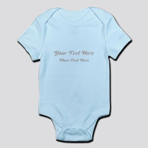 Elegant Gray Custom Text. Infant Bodysuit