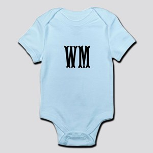 Black Initials. Customize. Infant Bodysuit