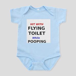 Funny Flying African Grey Poop Joke Baby Clothes
