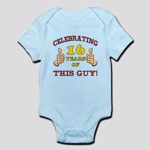 Funny 16th Birthday For Boys Infant Bodysuit