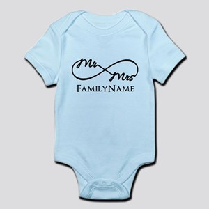 Custom Infinity Mr. and Mrs. Infant Bodysuit