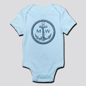 Anchor, Nautical Monogram Body Suit