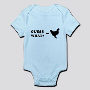 Guess what chicken butt Body Suit