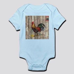 rustic farm country rooster Body Suit