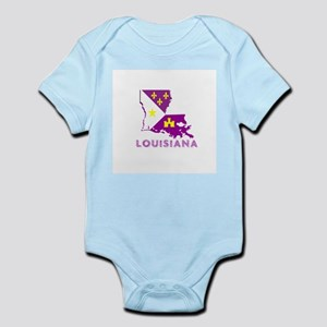 LOUISIANA PURPLE AND GOLD Body Suit