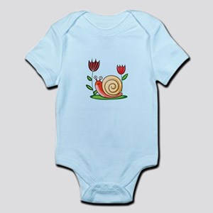 SNAIL AND FLOWERS Body Suit