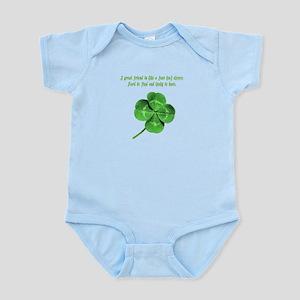 4 Leaf Clover Luck Infant Bodysuit