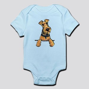 Welsh Terrier Paws Up Infant Bodysuit