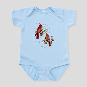 Two Christmas Birds Infant Bodysuit