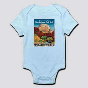 Vintage poster - Zion National Park Body Suit