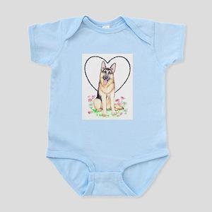 German Shepherd Dog Infant Bodysuit