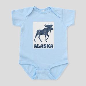 Retro Alaska Moose Infant Creeper