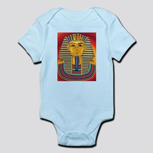 Tut Mask on Red Infant Bodysuit