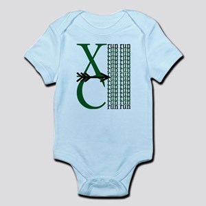 XC Run Green Black Body Suit