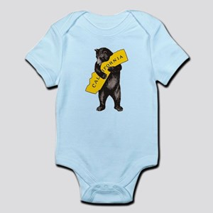 Vintage California Bear Hug Illustration Body Suit