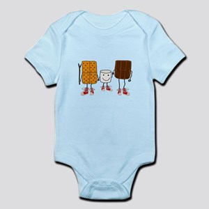 Funny Smores Camping Cartoon Body Suit