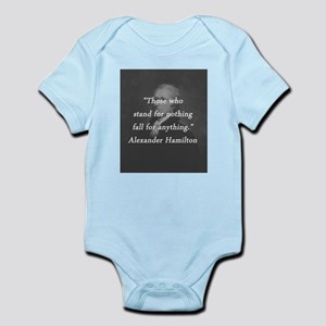 Hamilton - Stand for Nothing Infant Bodysuit