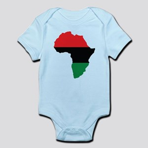 Red, Black and Green Africa Flag Body Suit