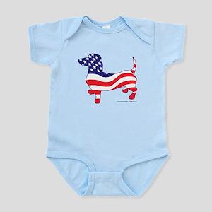 Patriotic Dachshund Infant Bodysuit
