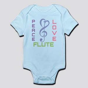 Peace Love Flute Music Infant Bodysuit