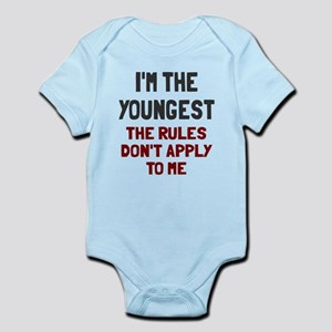 I'm the youngest rules don't apply Infant Bodysuit