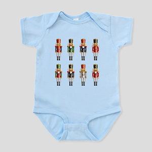 Nutty Nutcracker Toy Soldiers Infant Bodysuit