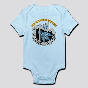 DUI - 2nd Infantry Division with Text Infant Bodys