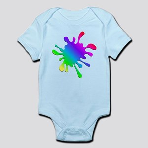 Rainbow Paint Splatter Body Suit