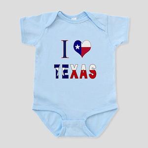 I (Heart) Love Texas Flag Infant Bodysuit