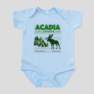 Cool Acadia National Park Vintage Moose Body Suit