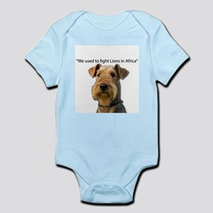 Airedales used to Fight Lions in Africa Body Suit