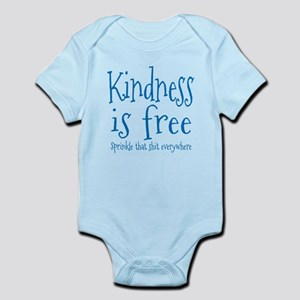 Sprinkle Kindness Blue Infant Bodysuit