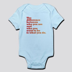 The Difference (red/orange) Infant Bodysuit